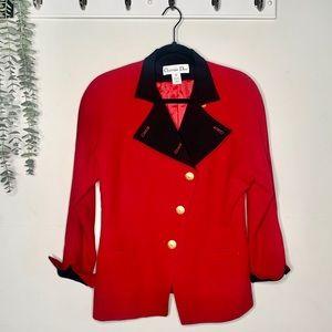 Vintage Dior 80s Red Blazer